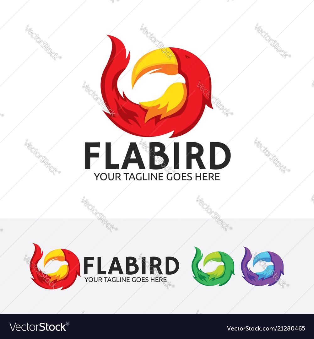 Flame bird logo design