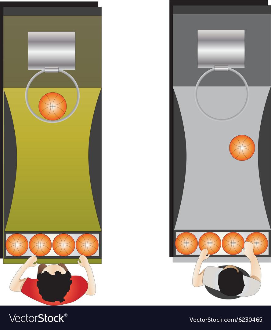Game room Basket ball game vector image