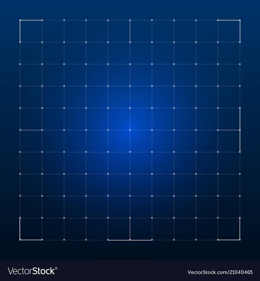 Grid for futuristic hud interface