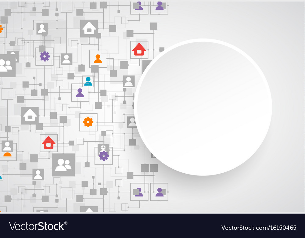 Social media background network concept
