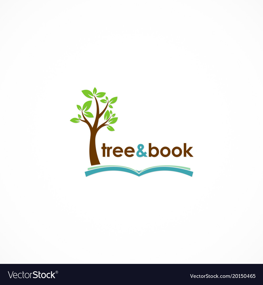 Tree and book logo