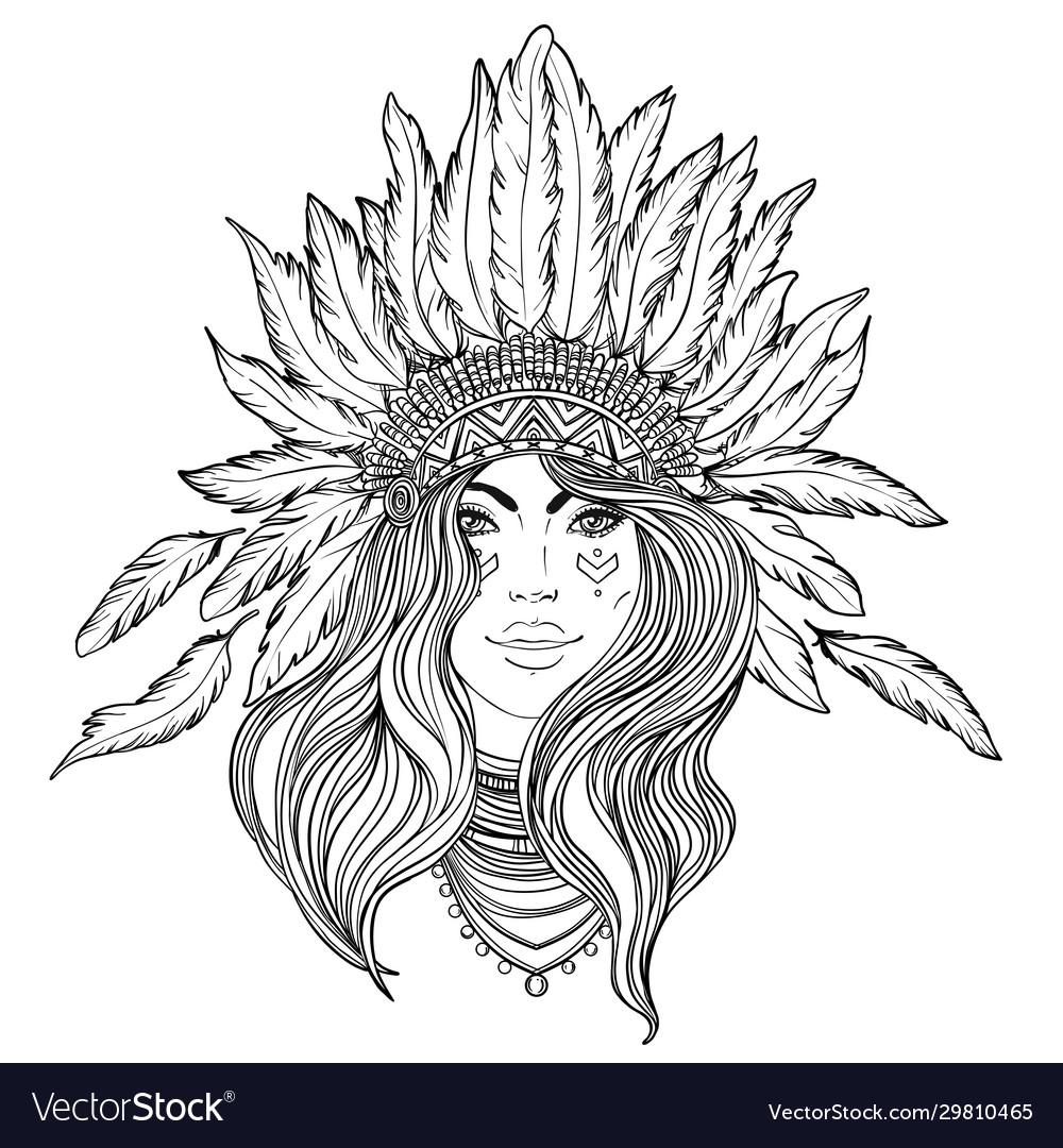 Tribal fusion boho diva black and white