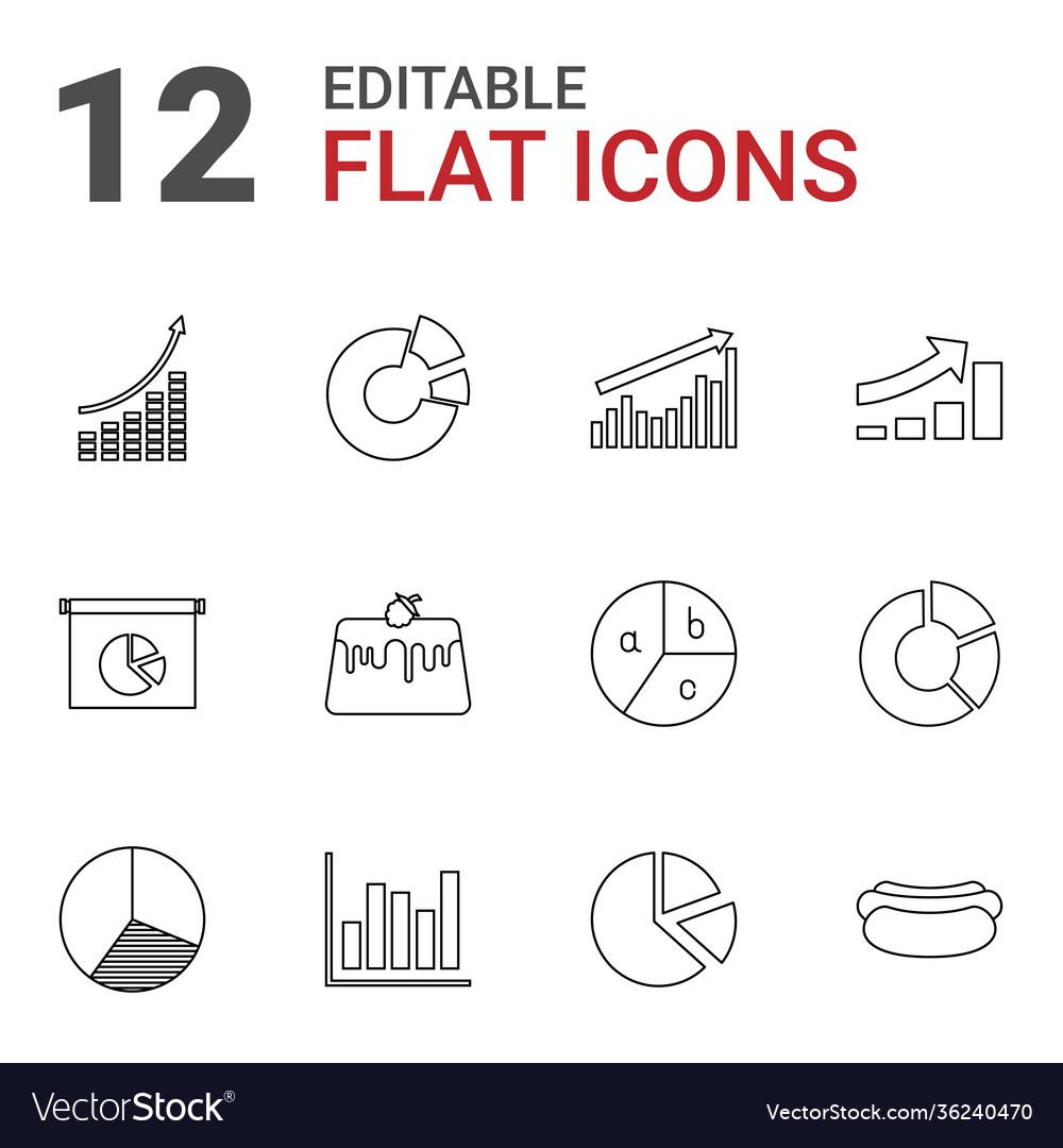 12 pie icons