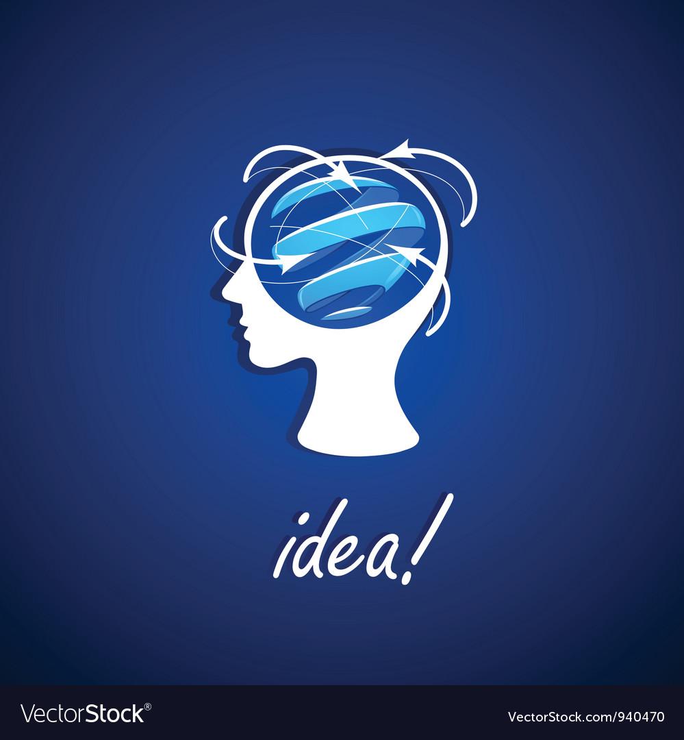 Business icon idea vector image