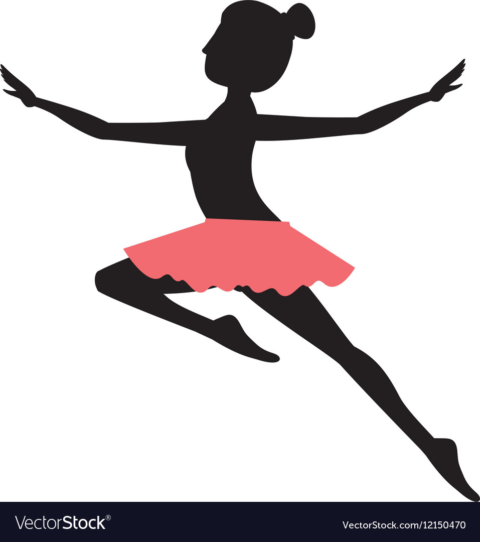 Girl practice ballet design vector image on VectorStock