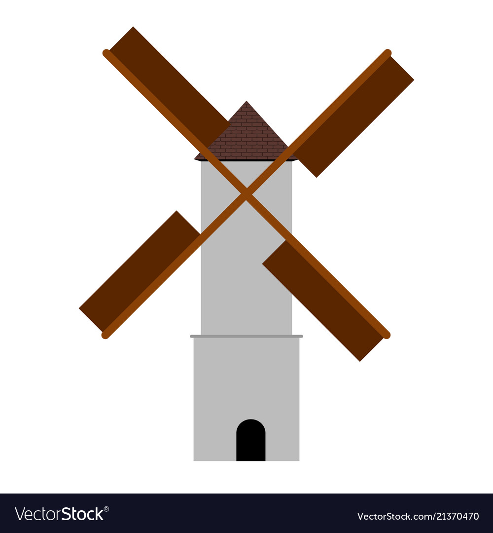 Isolated windmill image