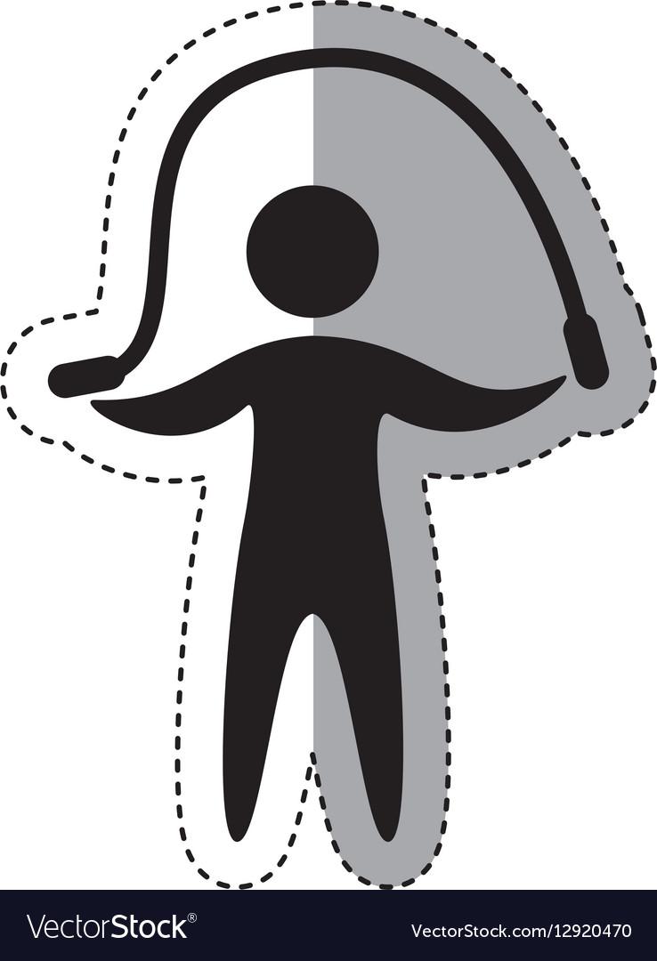 Jump rope athlete silhouette