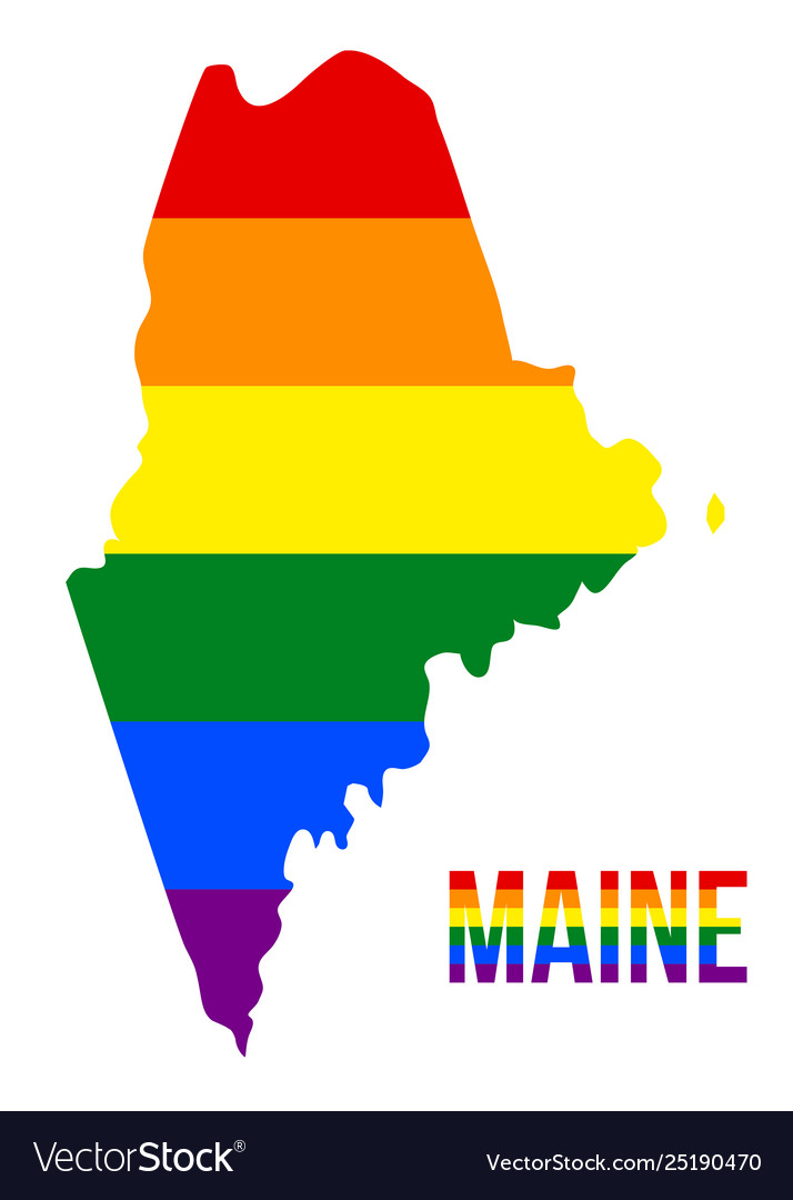 Maine state map in lgbt rainbow flag comprised on bavaria state map, green state map, florida state map, california state map, south state map, montgomery state map, map state map, detailed state maine map, bremen state map, kenosha state map, wood state map, black state map, north state map, alternate state map, mane state map, state of maine map, denmark state map, belgium state map, west state map, lower state map,