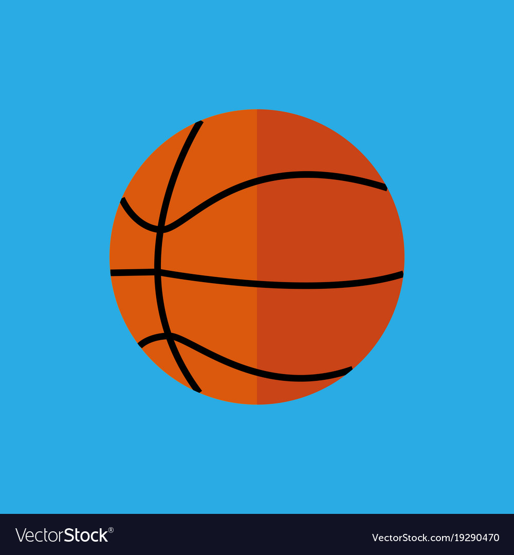 Simple flat style basketball sport graphic