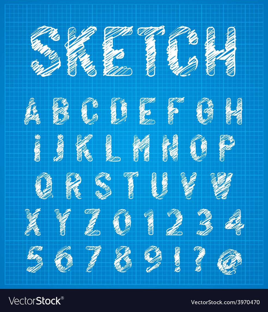 Sketch alphabet set