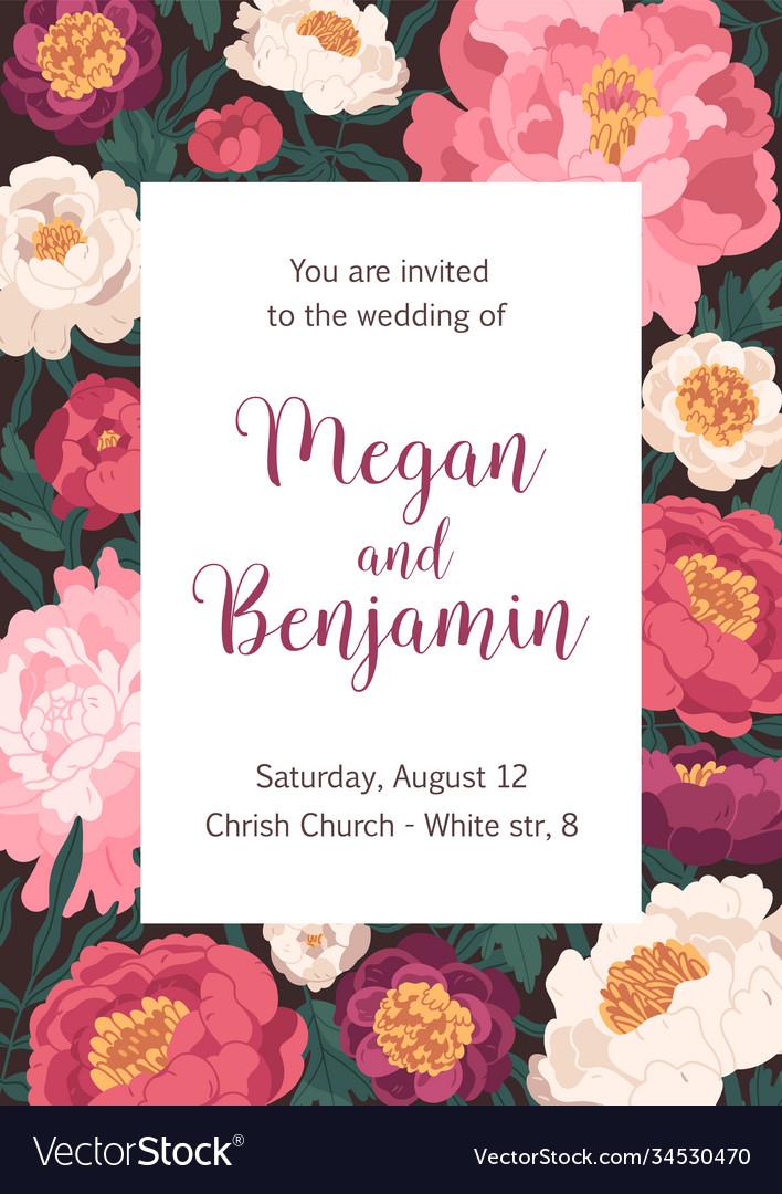 Wedding ceremony invitation card design