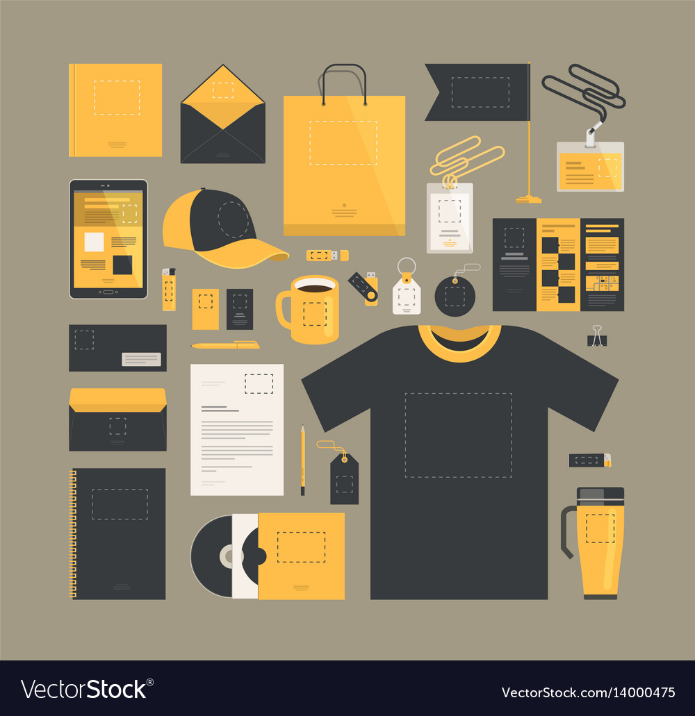 Business marketing corporate identity design vector image