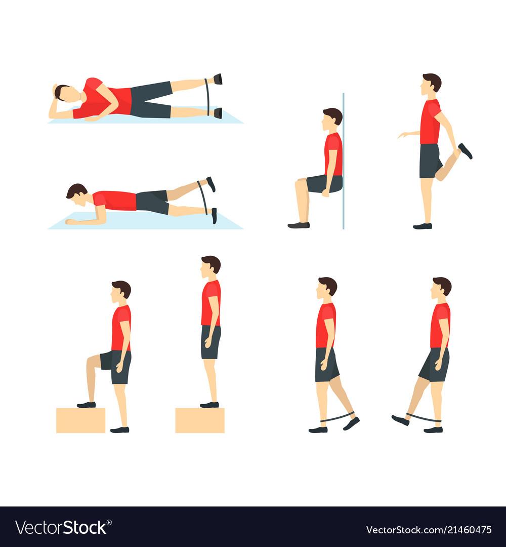 Cartoon jumper knee rehabilitation exercise card