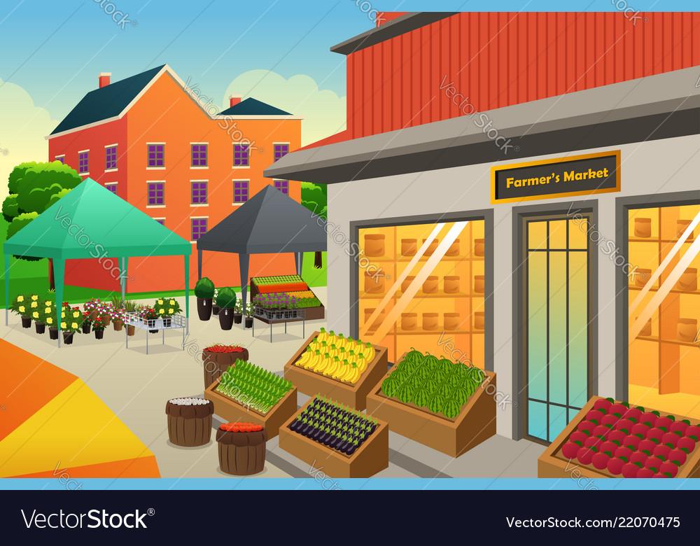 Farmers Market Background
