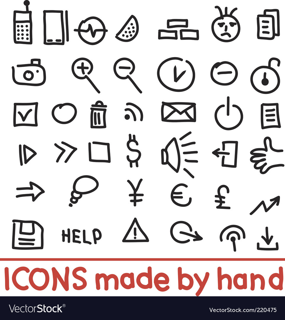 Icons made by hand