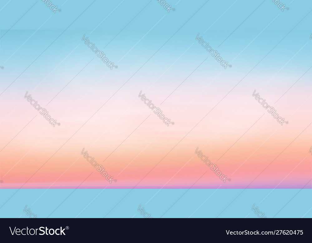 Pastel colors romantic sunrise sky