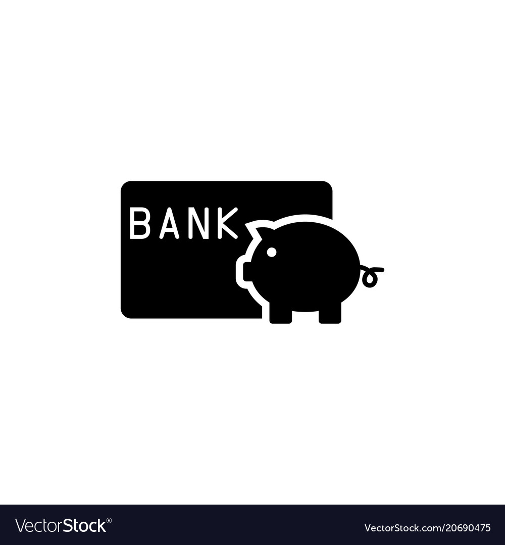 Save money piggy bank with credit card flat vector image