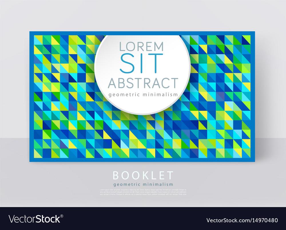 A brochure template modern vector image