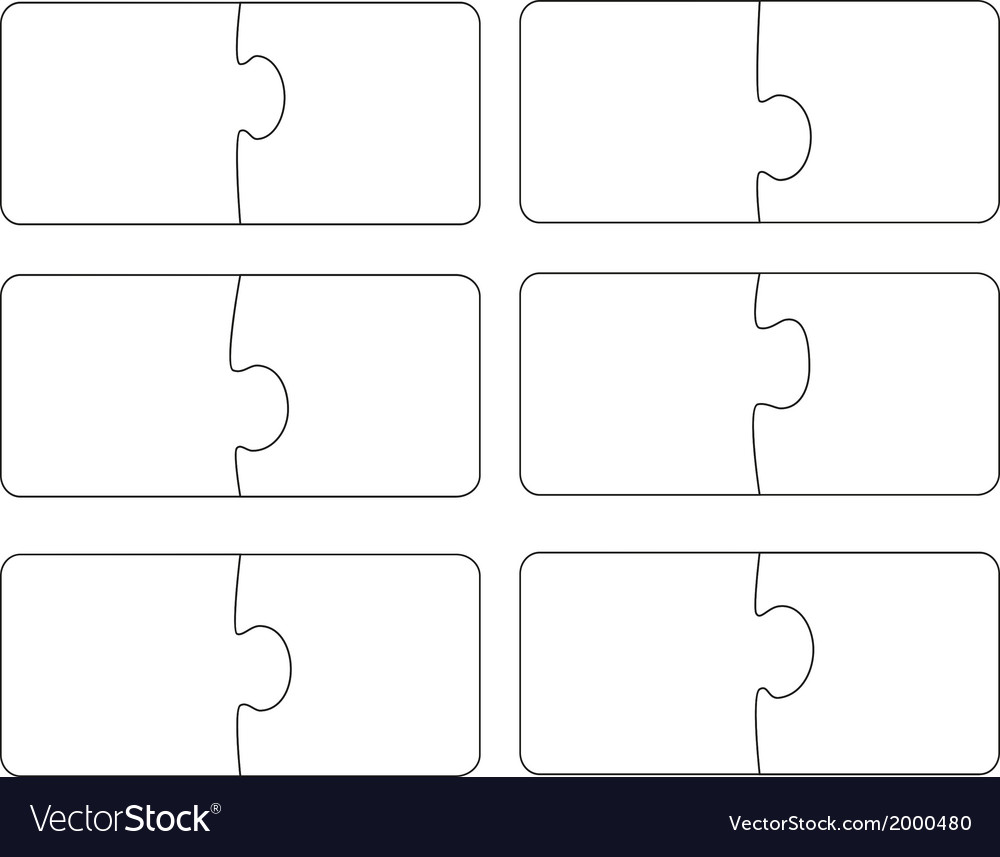 Blank template puzzle A vector image