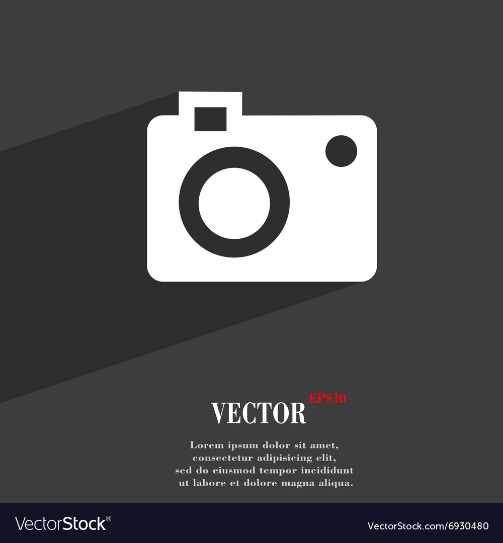 Camera Symbol Flat Modern Web Design With Long Vector Image