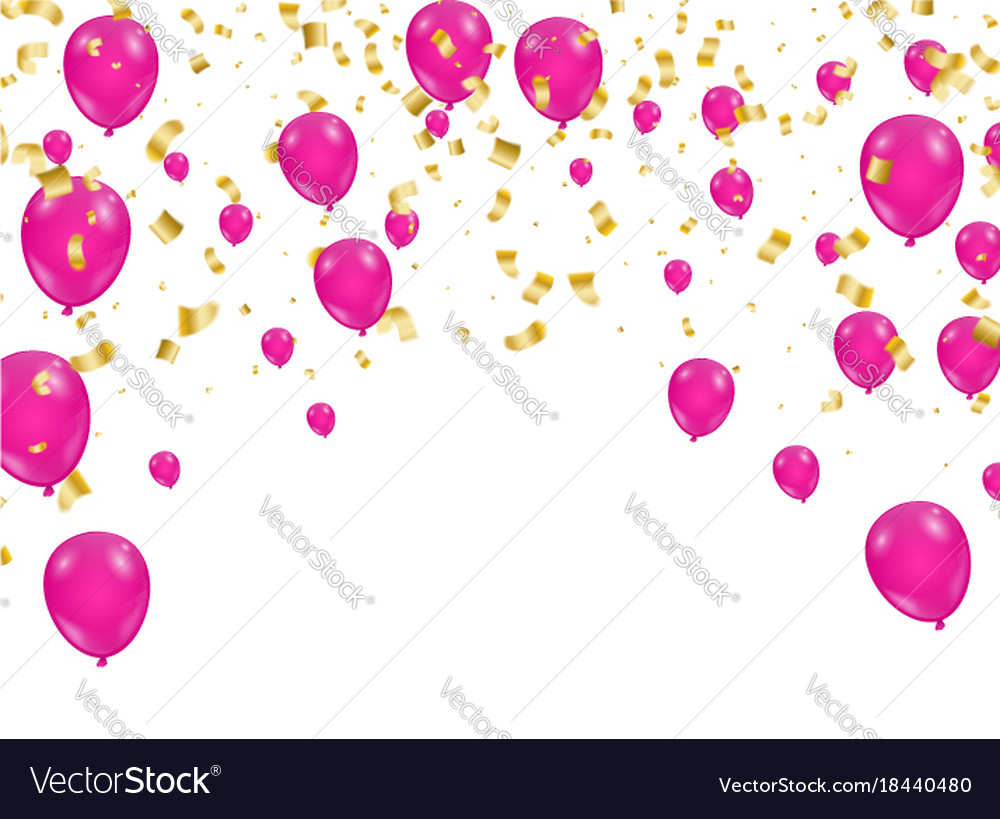 Celebration background template with confetti and