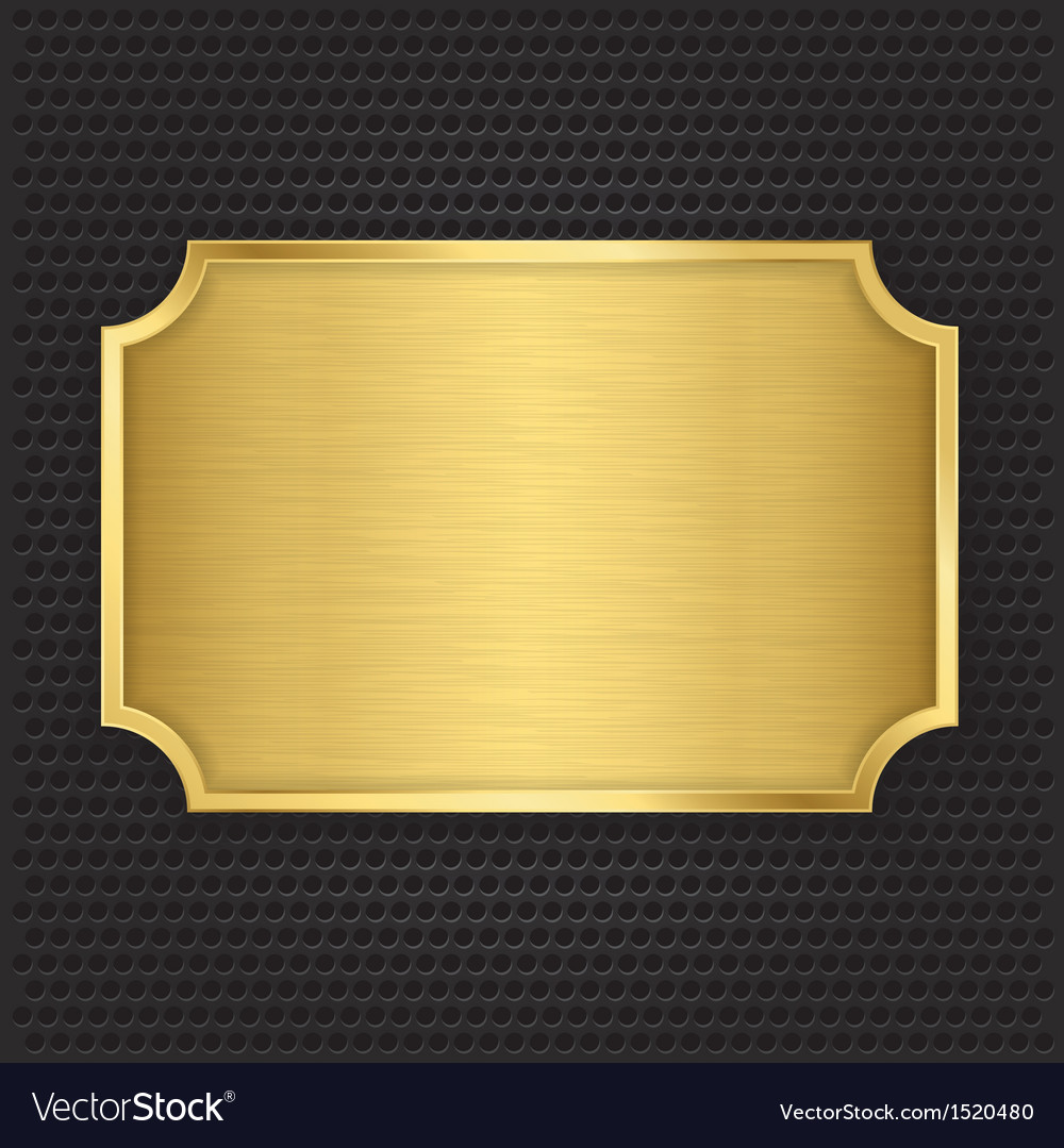 Gold texture plate vector image