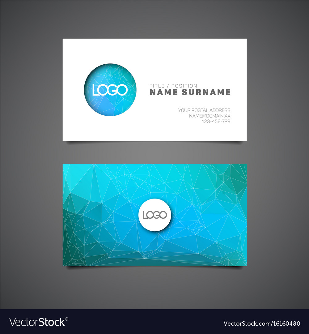 modern simple business card template royalty free vector