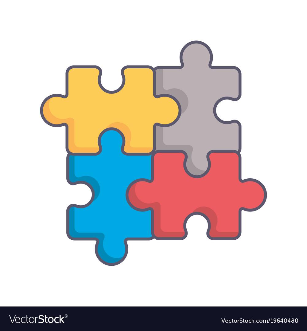 puzzle pieces game icon royalty free vector image rh vectorstock com puzzle piece vector free puzzle piece vector shape