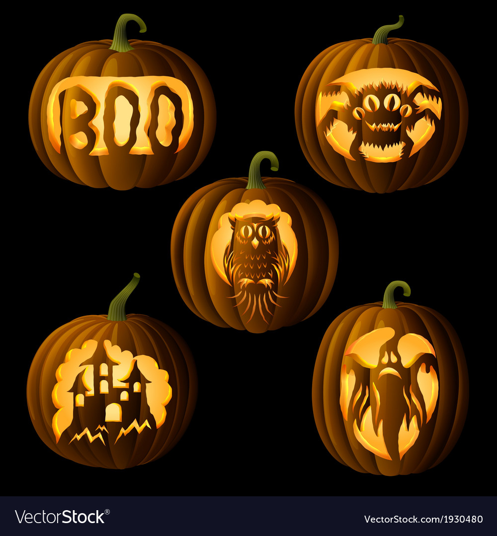 Set of Jack o Lanterns