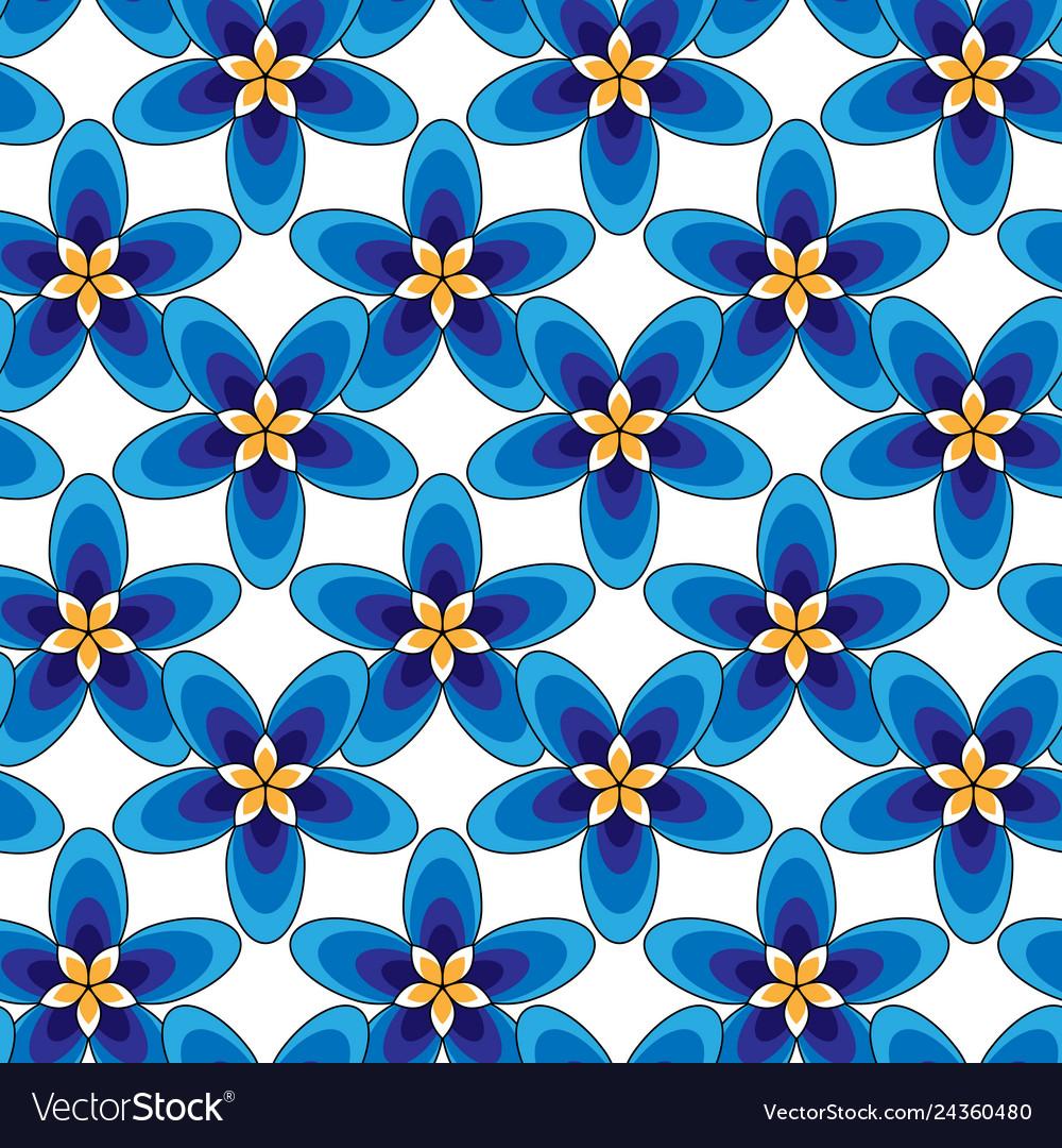Simply blue flowers pattern