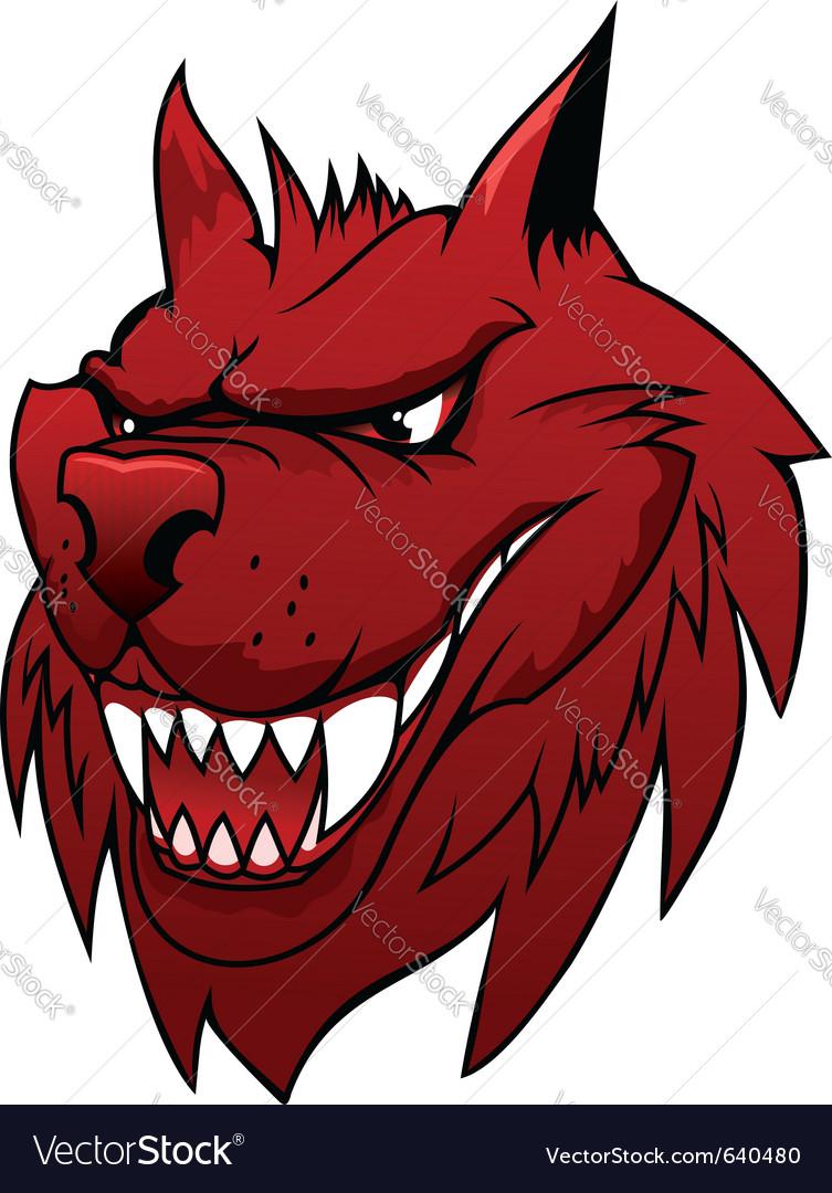 Wolf cartoon vector image