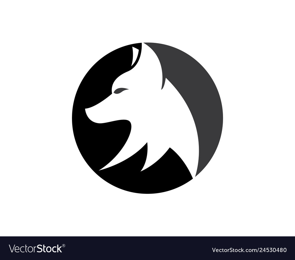 Wolf logo template icon