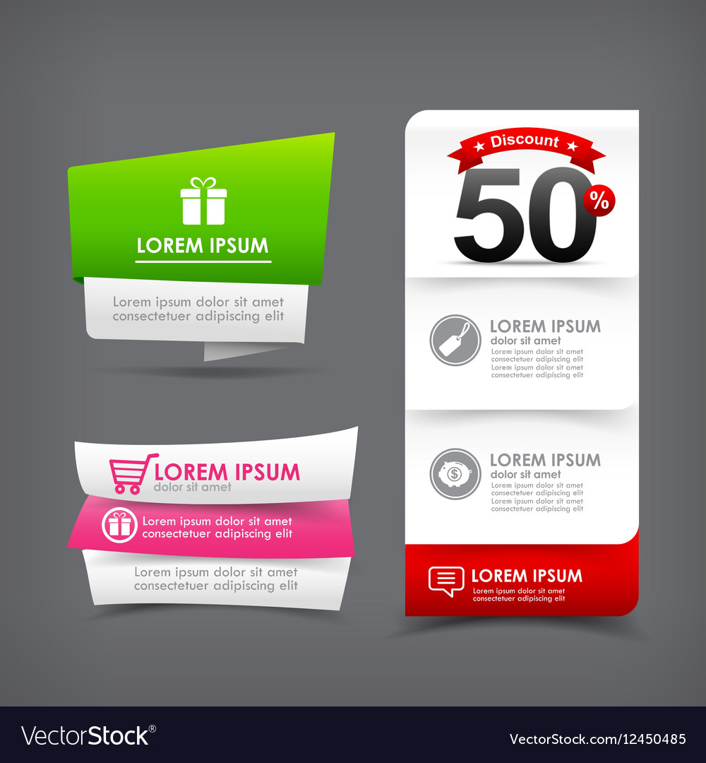 021 Collection of colorful web tag banner for