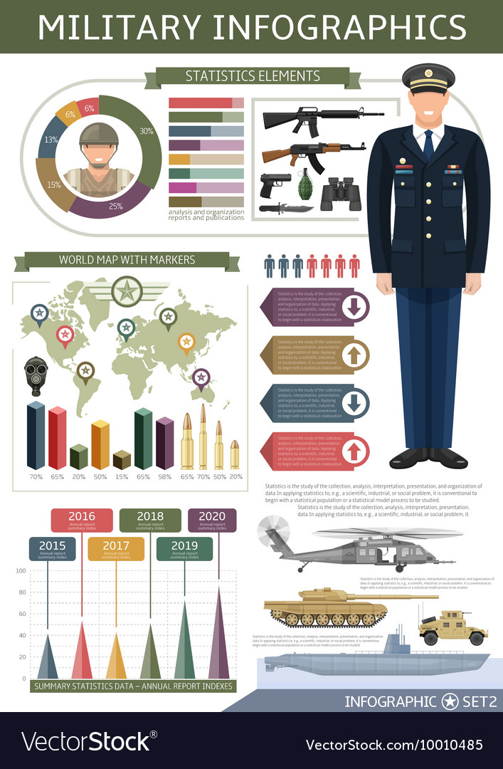 army infographics template royalty free vector image