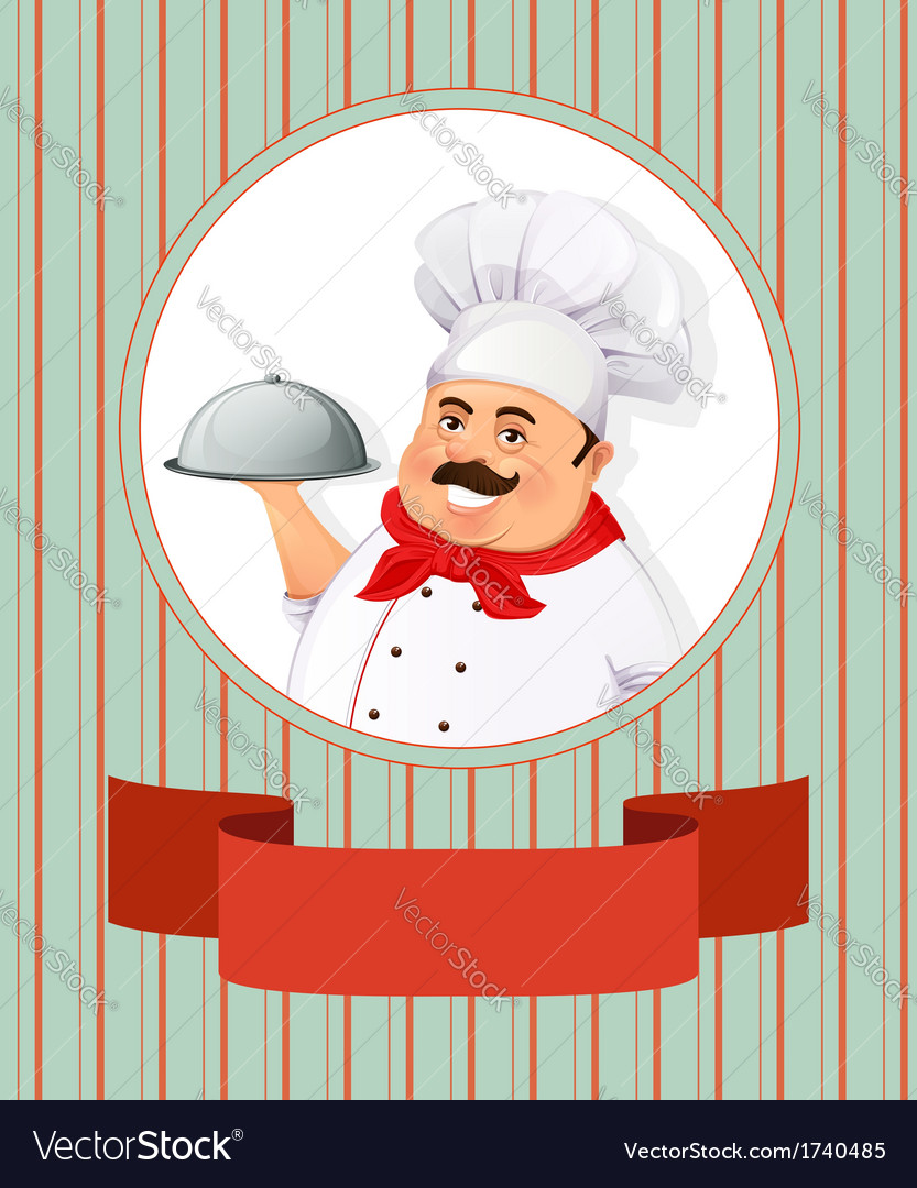 Cheerful smiling cook