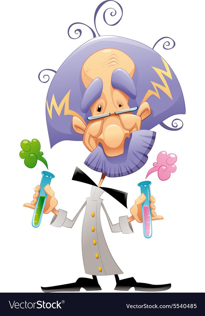 mad scientist royalty free vector image vectorstock vectorstock