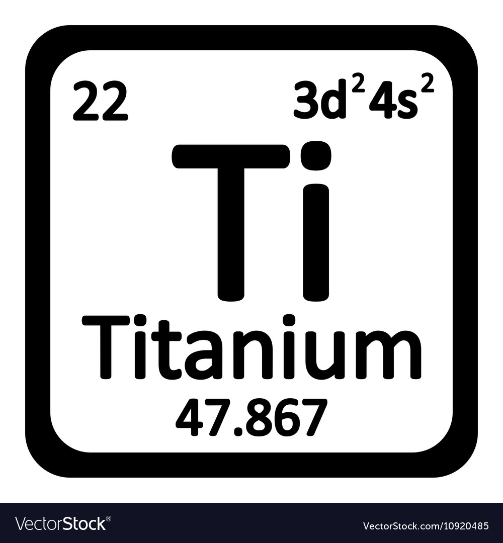 Periodic Table Element Titanium Icon Vector Image