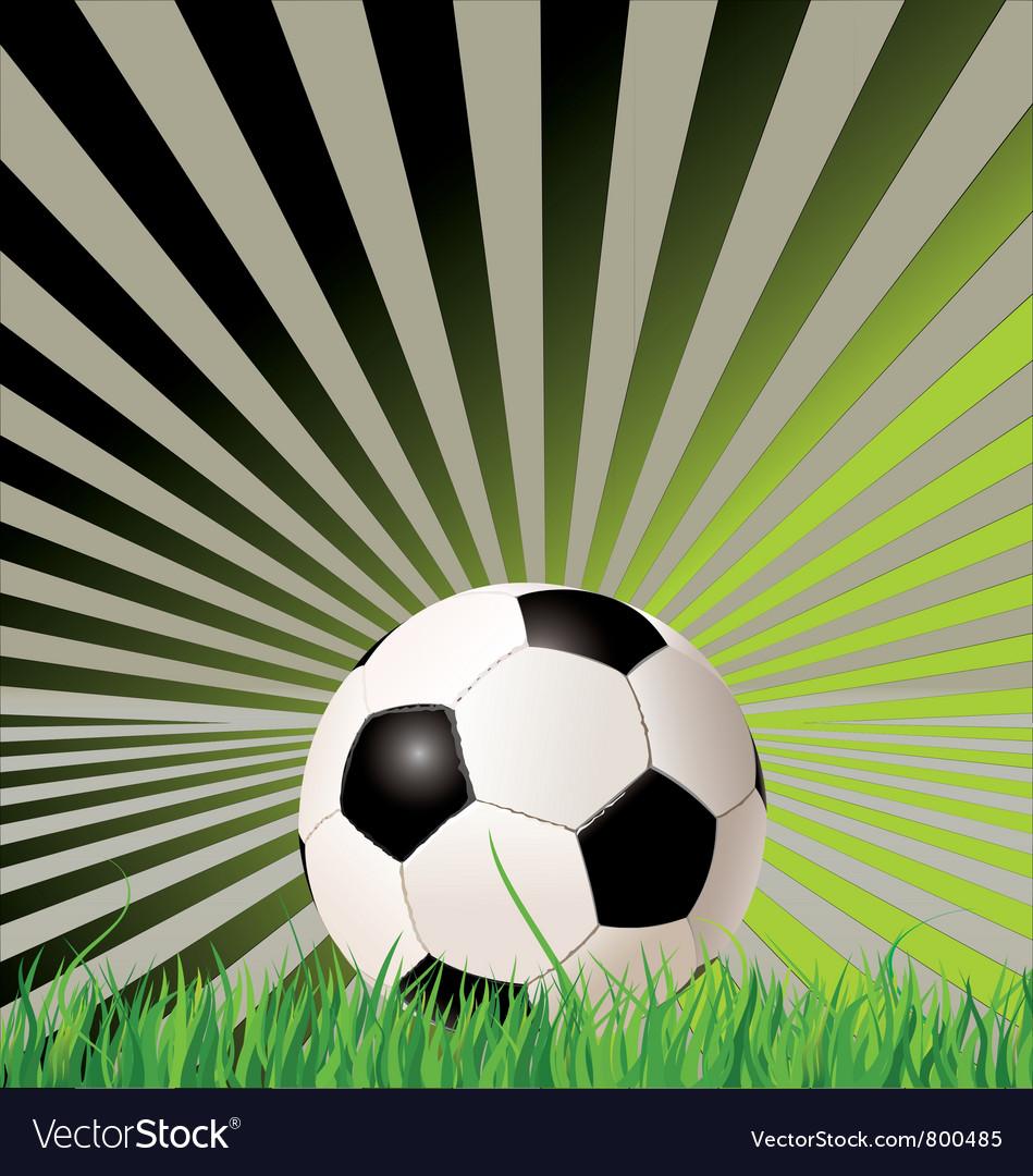 Soccer ball retro background
