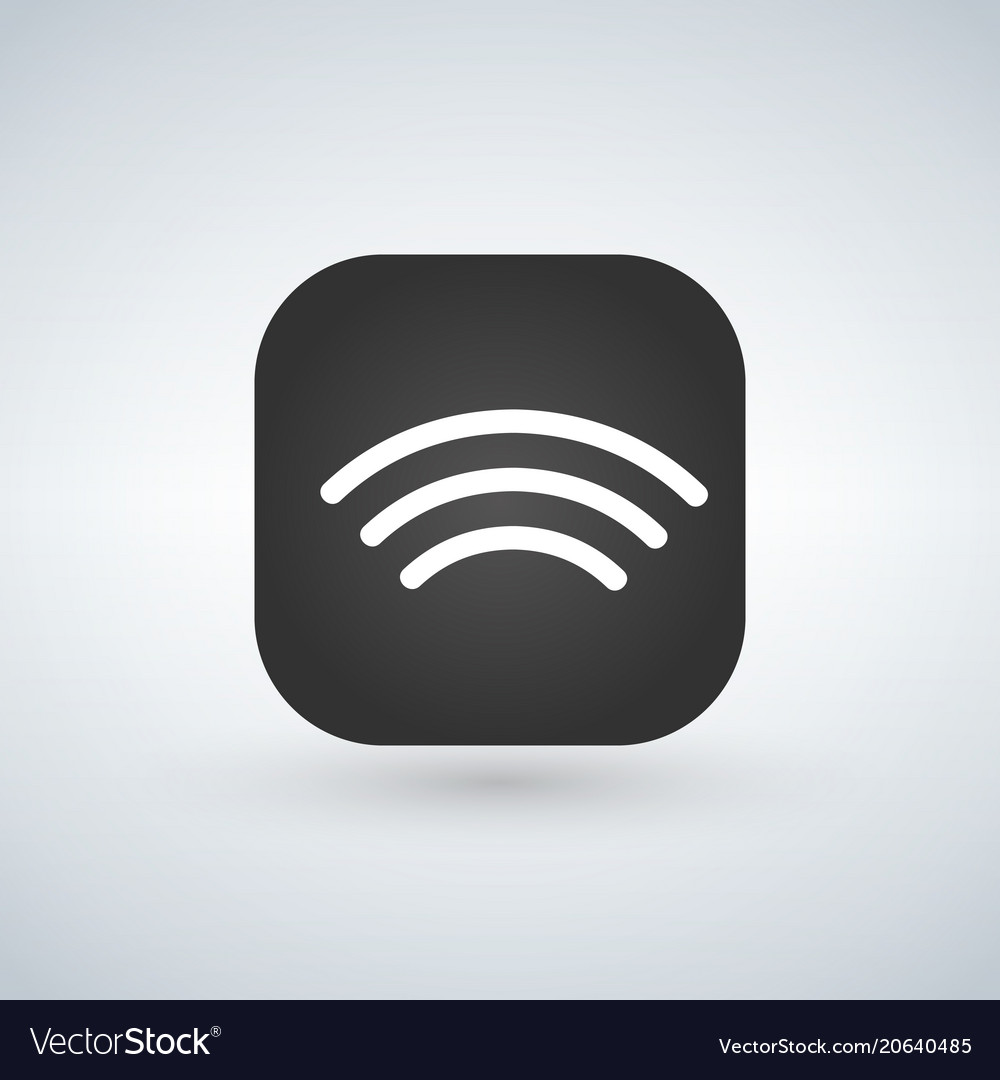 Wifi wireless network icons over app button