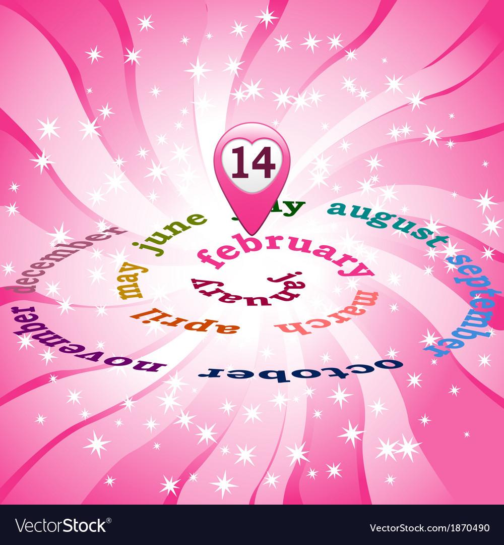 14 February on calendar