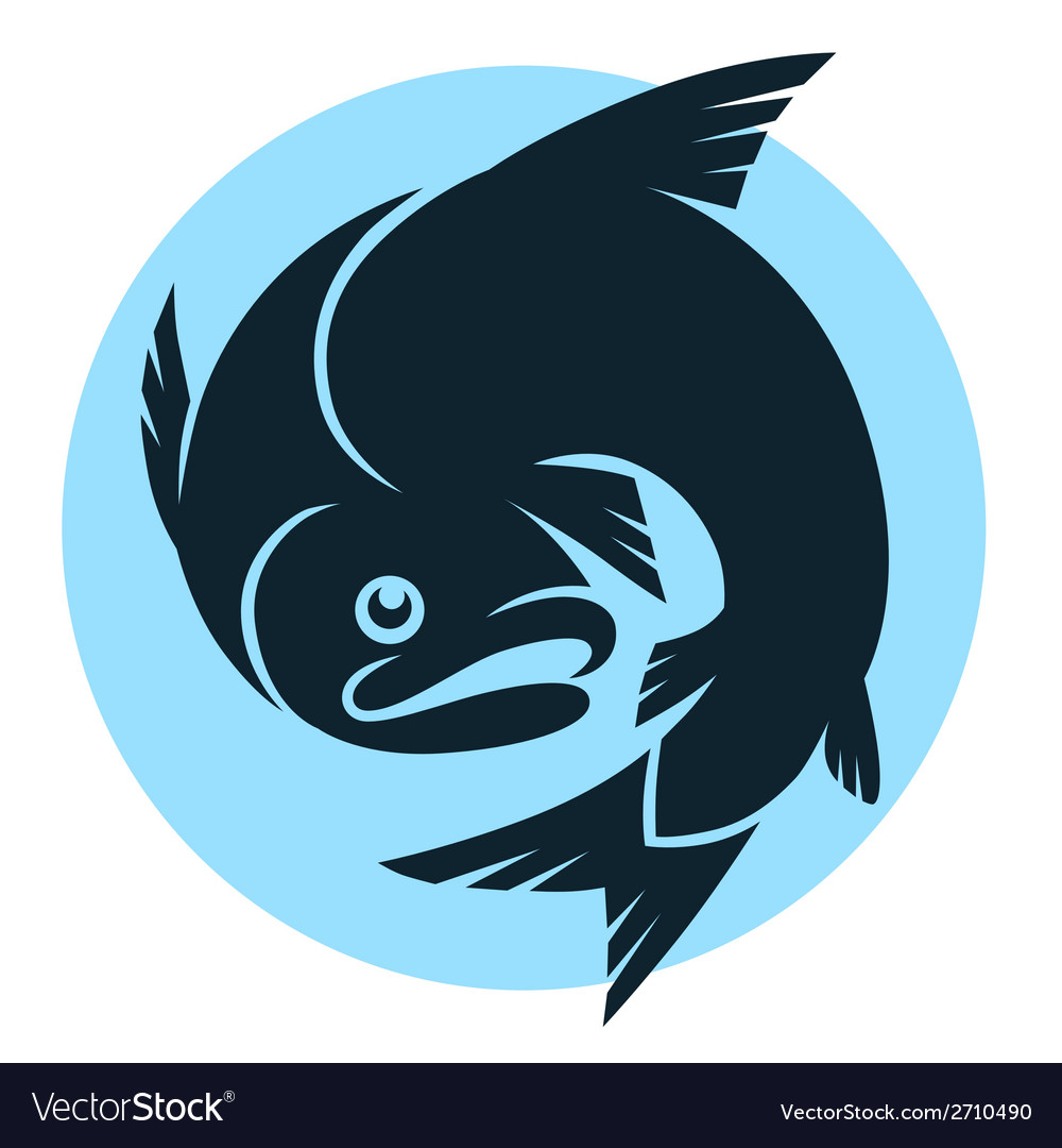 Abstract fish sign