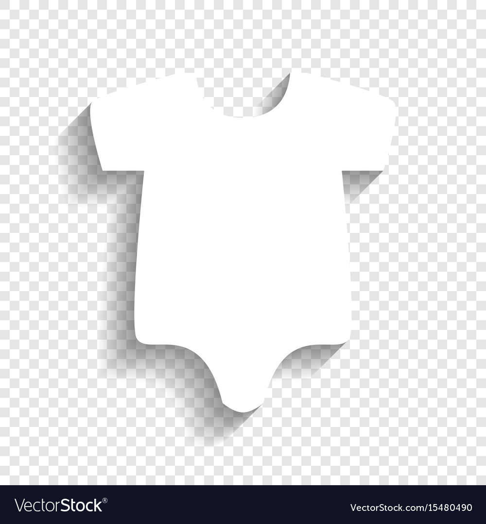 dbef7fa7ab59 Baby cloth white icon with Royalty Free Vector Image