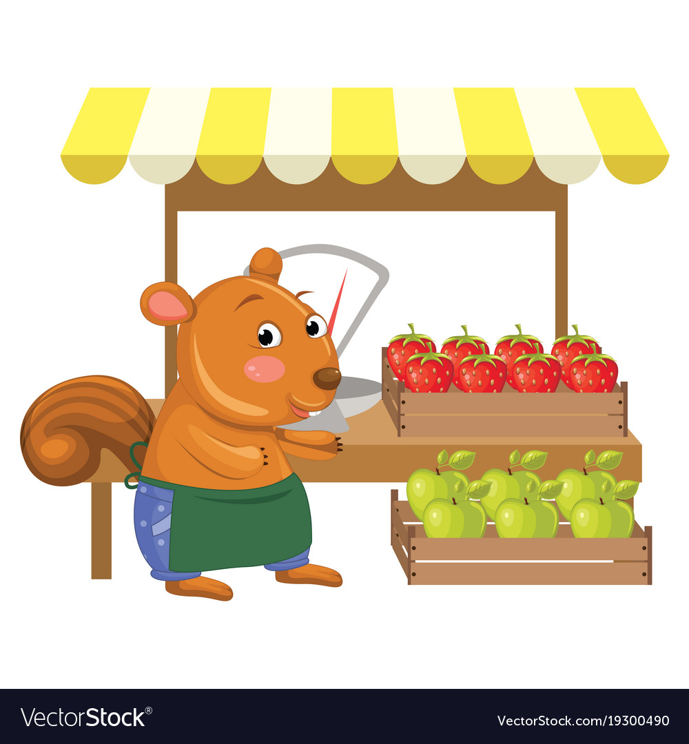 Cartoon greengrocer squirre