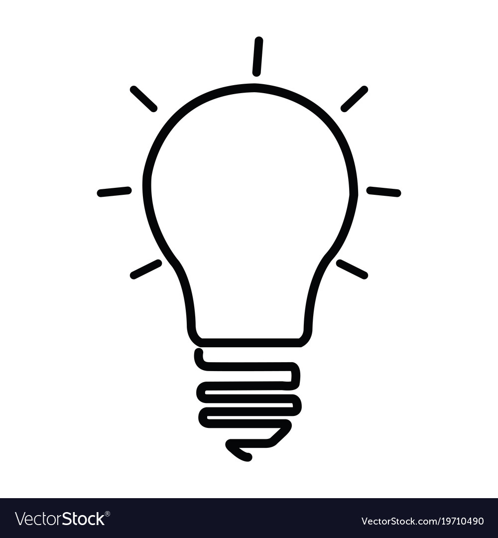 Light bulb icon Royalty Free Vector Image