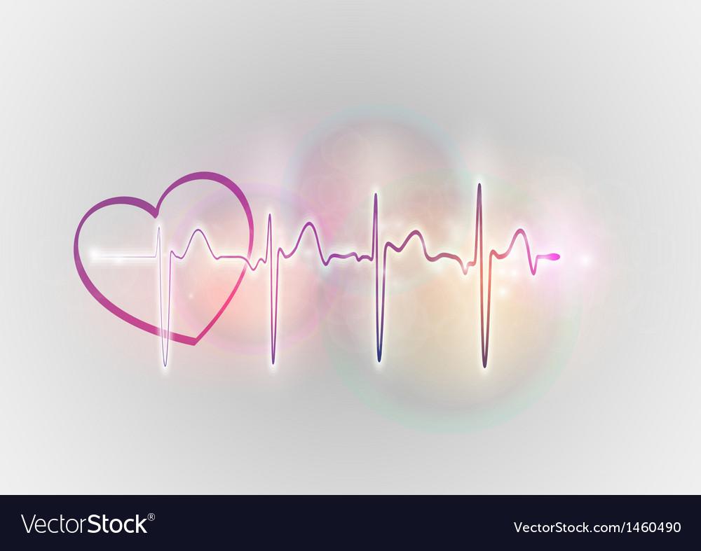 Medical symbol ekg sweet heart