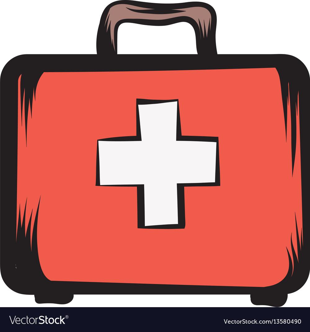 Medicine chest icon cartoon vector image