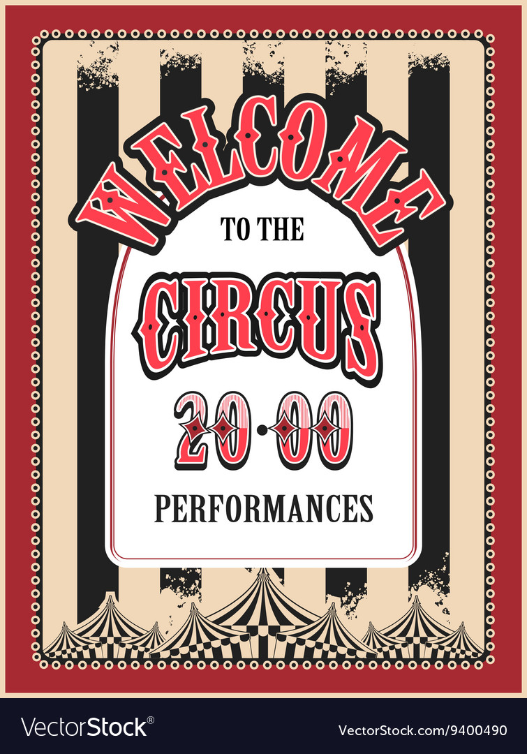 Retro poster circus