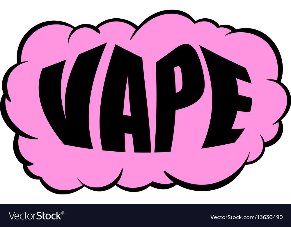 smoke vape icon cartoon royalty free vector image