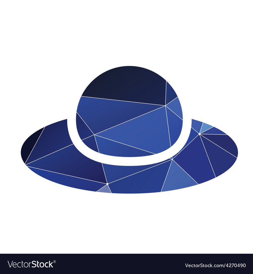 fbb1bfed315 Woman hat icon Abstract Triangle Royalty Free Vector Image