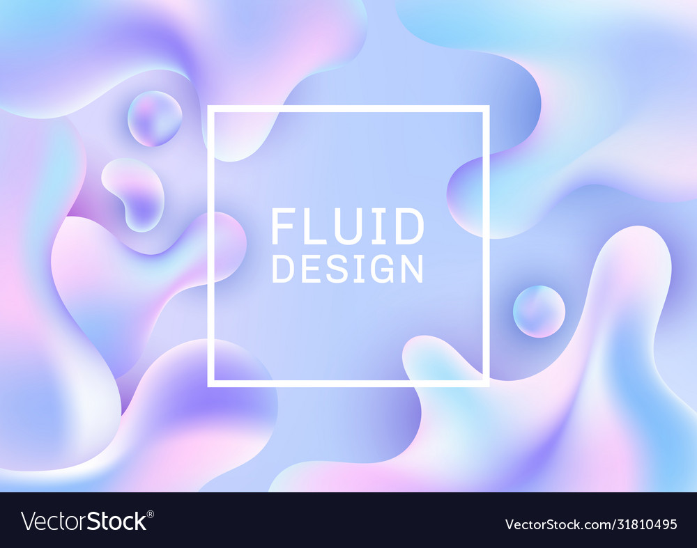 Abstract 3d fluid shapes creative templates